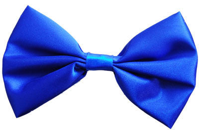 Satin Bow Tie Blue