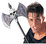 DELUXE SKULL WARRIOR BATTLE AXE