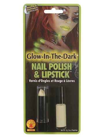 GLOW-IN-THE-DARK LIPSTICK AND NAIL POLISH
