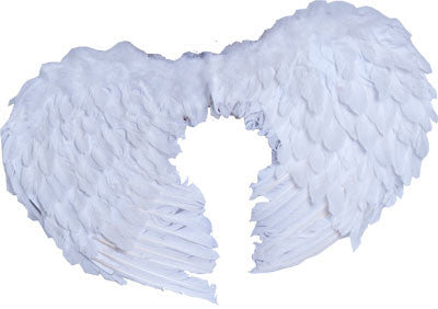 Small Feather Angel Wings White