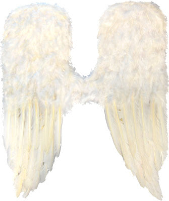 Large Feather Angel Wings White