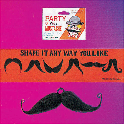 SIX -WAY MOUSTACHE - BLACK