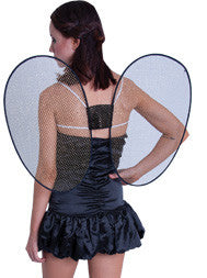 Fairy Wings w/Tinsel Black