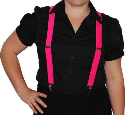 Stretch Braces Hot Pink