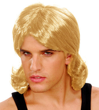 80s Bogan Mullet Wig Blonde – Party Supply Warehouse 01237f37929e