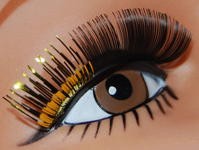 Two Tone Lashes Black w/Gold