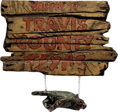 TRAVIS COUNTY TEXAS SIGN