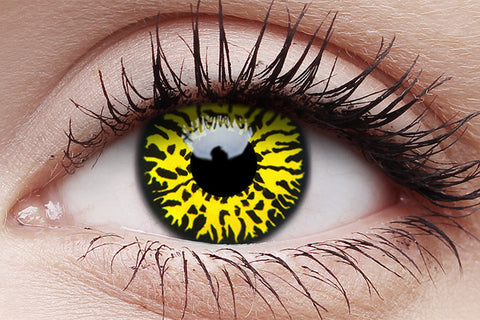 Crazy Lens Contacts Yellow Eclipse