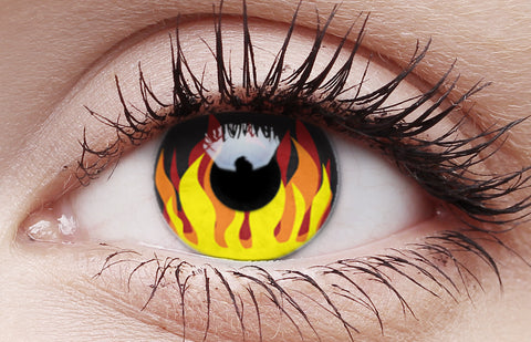 Crazy Lens Contacts Flame Hot