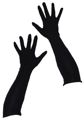 Nylon Gloves 45cm Black