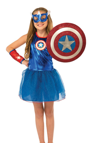 "CAPTAIN AMERICA 12"" GLITTER SHIELD"