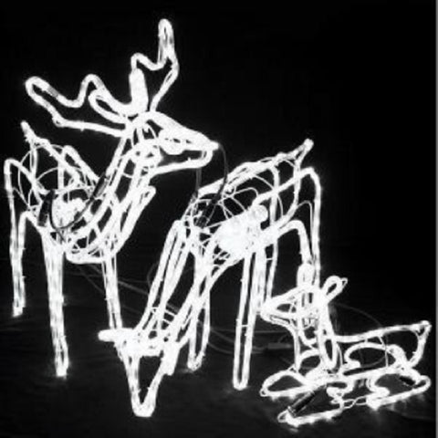 LED 3D Moving 3 Deer W 77-53cm