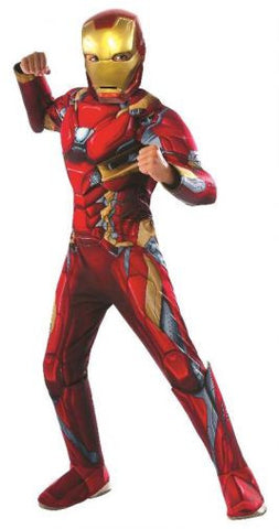 IRON MAN DELUXE COSTUME - SIZE 6-8