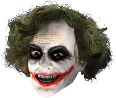 THE JOKER 3/4 MASK WITH HAIR ADULT