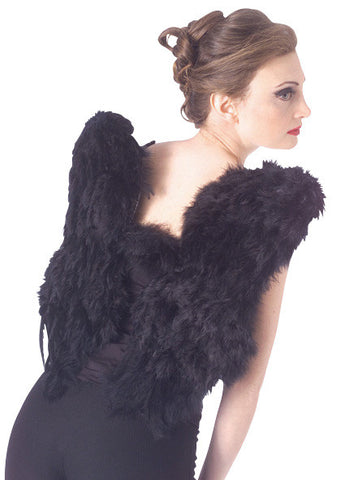FEATHER WINGS - BLK