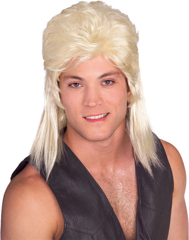 MULLET wig, faceware BLONDE