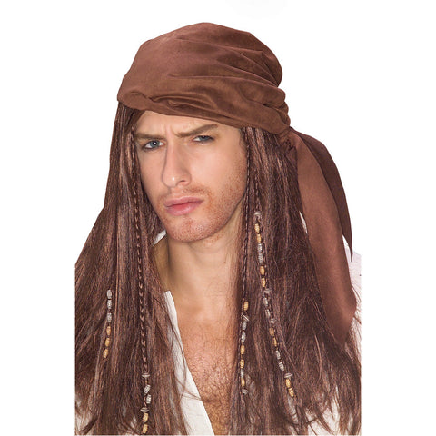 CARIBBEAN PIRATE wig, faceware
