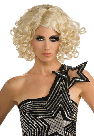 LADY GAGA CURLY BLONDE wig, faceware