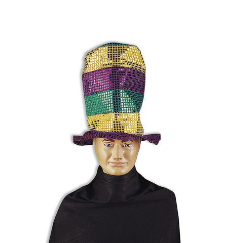 SEQUIN STOVE PIPE HAT