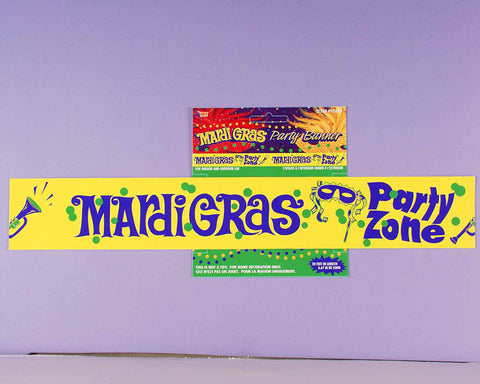 MARDI GRAS PARTY BANNER 20' LONG