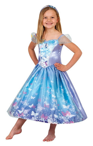 CINDERELLA LIVE ACTION LIGHT UP COSTUME - SIZE 3-5