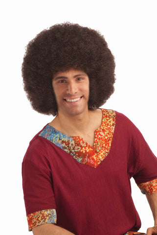 DELUXE AFRO wig, faceware-BROWN