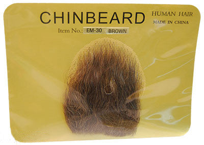 Human Hair Small Chin Beard Brown