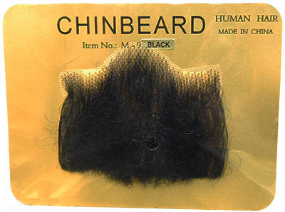Human Hair Big Chin Beard Black