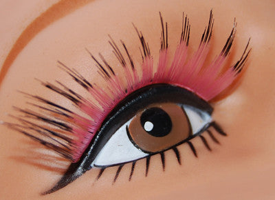 Long Sweep Lashes Pink w/Black Tips