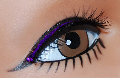 Black Lash W/Purple Lid Line