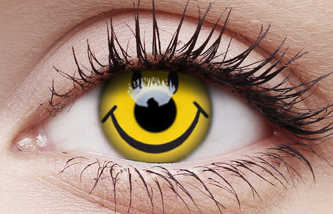 Crazy Lens Contacts Smiley Face