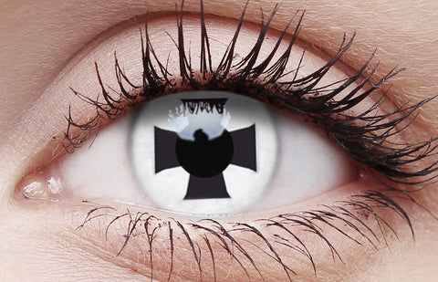 Crazy Lens Contacts Black Cross