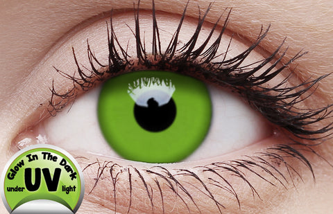 Crazy Lens Contacts UV Glow Green