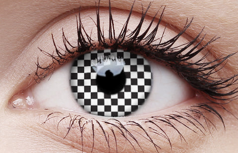 Crazy Lens Contacts Chequered