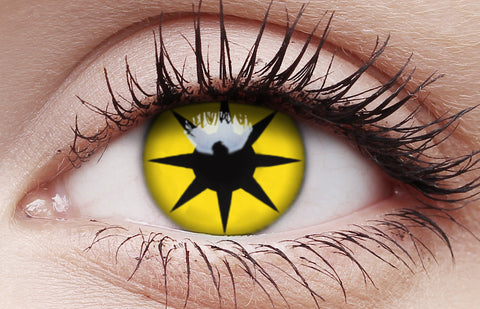 Crazy Lens Contacts Yellow Star