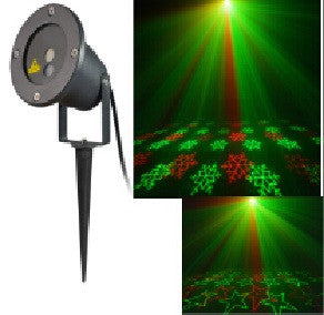 Outdoor Star Power Red/Green Laser Lighting Star/Snow