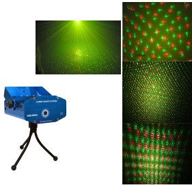 Indoor Red/Green Laser Lighting with Dots