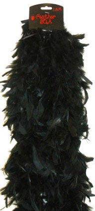 Deluxe Plush Turkey Boa 1.8m BLACK