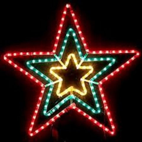 LED Star Red Green Yellow