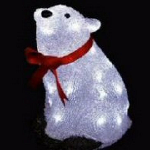 30cm Acry Bear 32L White LED
