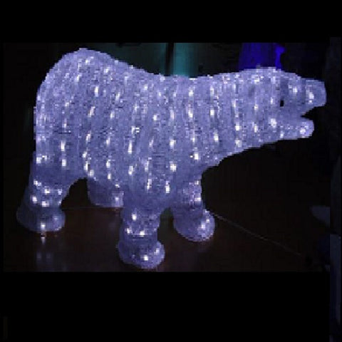 40cm Acry Bear 200L White LED