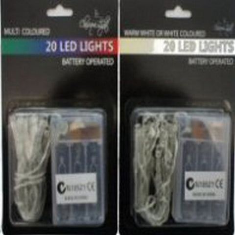 20 Battery LED White