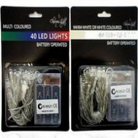40 Battery LED Warm White
