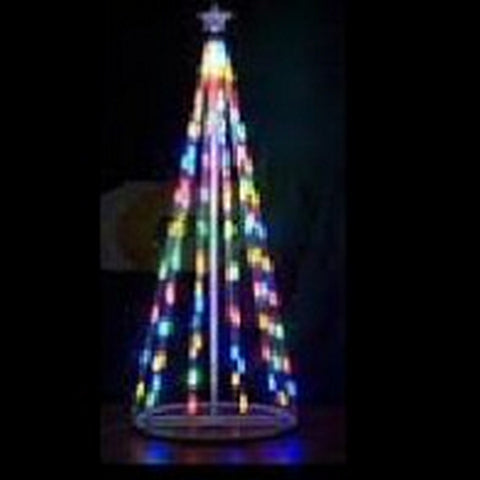 448 LED Cone Tree 2.7m Multi