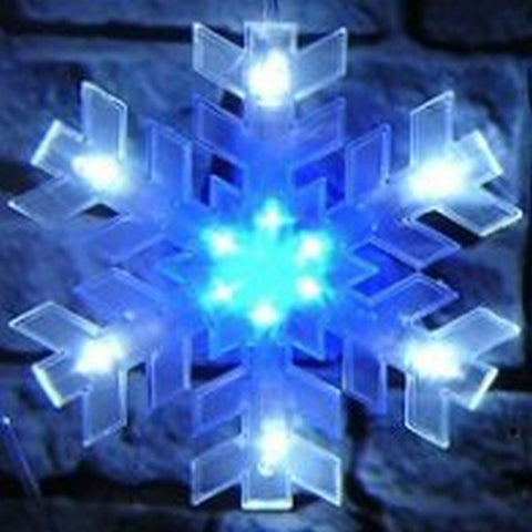 12L LED Snowflake Conn White