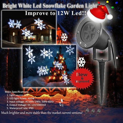 LED White Snowflake
