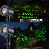 Laser Outdoors Animated Santa Sleigh + Merry Christmas with Bells