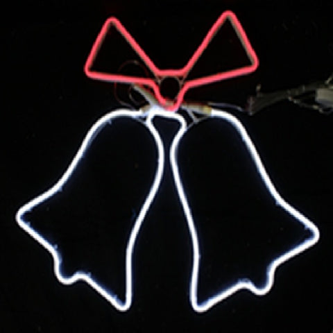 NEON 2 Bells animated LED 60x50cm W/R