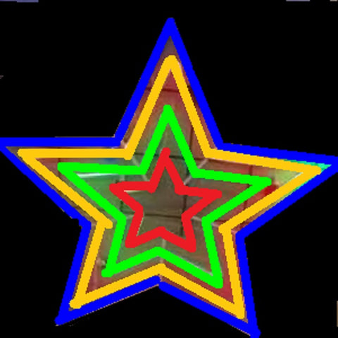 NEON 4 Layer Star RGYB 100x100cm