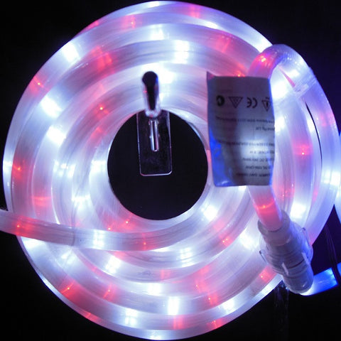 10m 36V LED Frosted Connect Rope Red/White